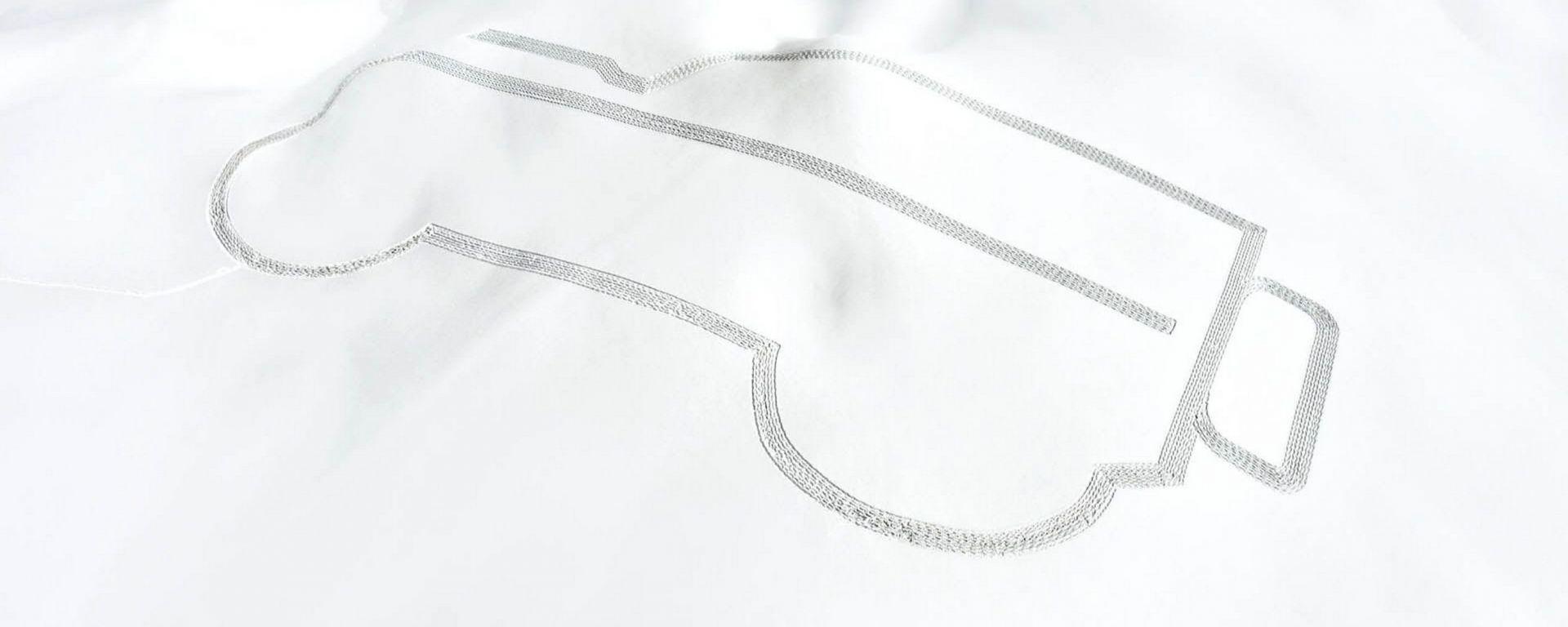 Land Rover Defender Disegnato Sulla Neve In Cima Alle Alpi