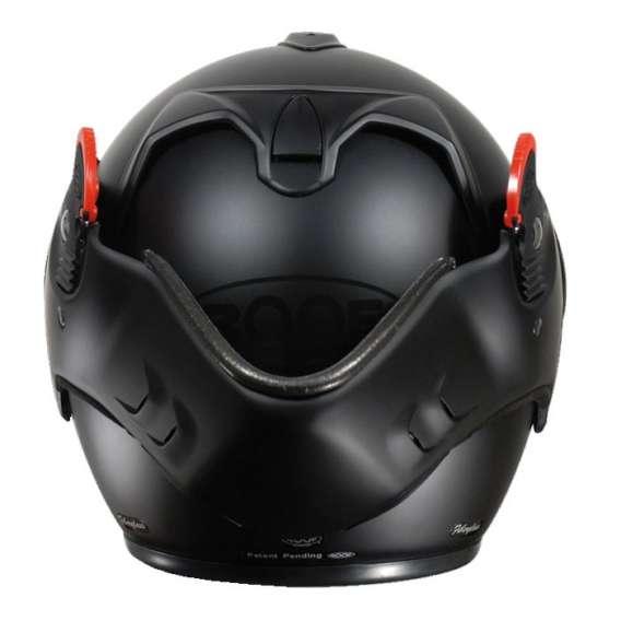 casque moto modulable roof boxer v8 full black
