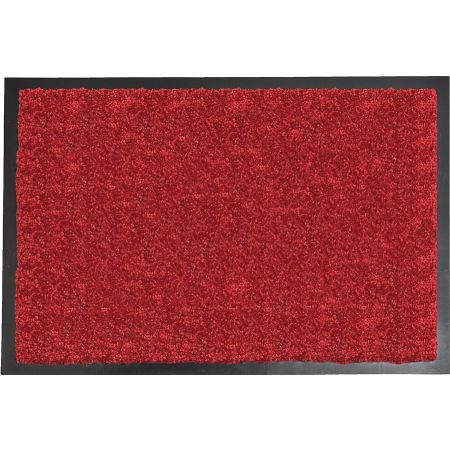 tapis baptiste polyamide pvc rouge 60 x 40