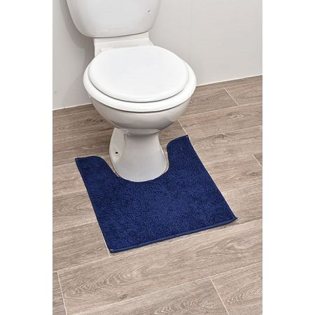 tapis contour wc polyester 45 x 50 cm marine