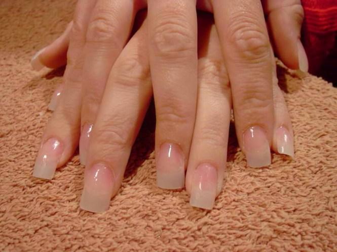 French Manicure Acrylic Nails