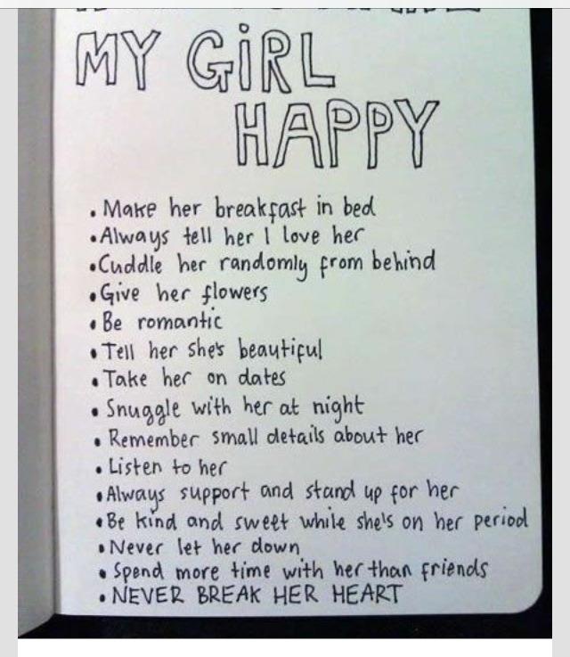 How To Keep My Girlfriend Happy