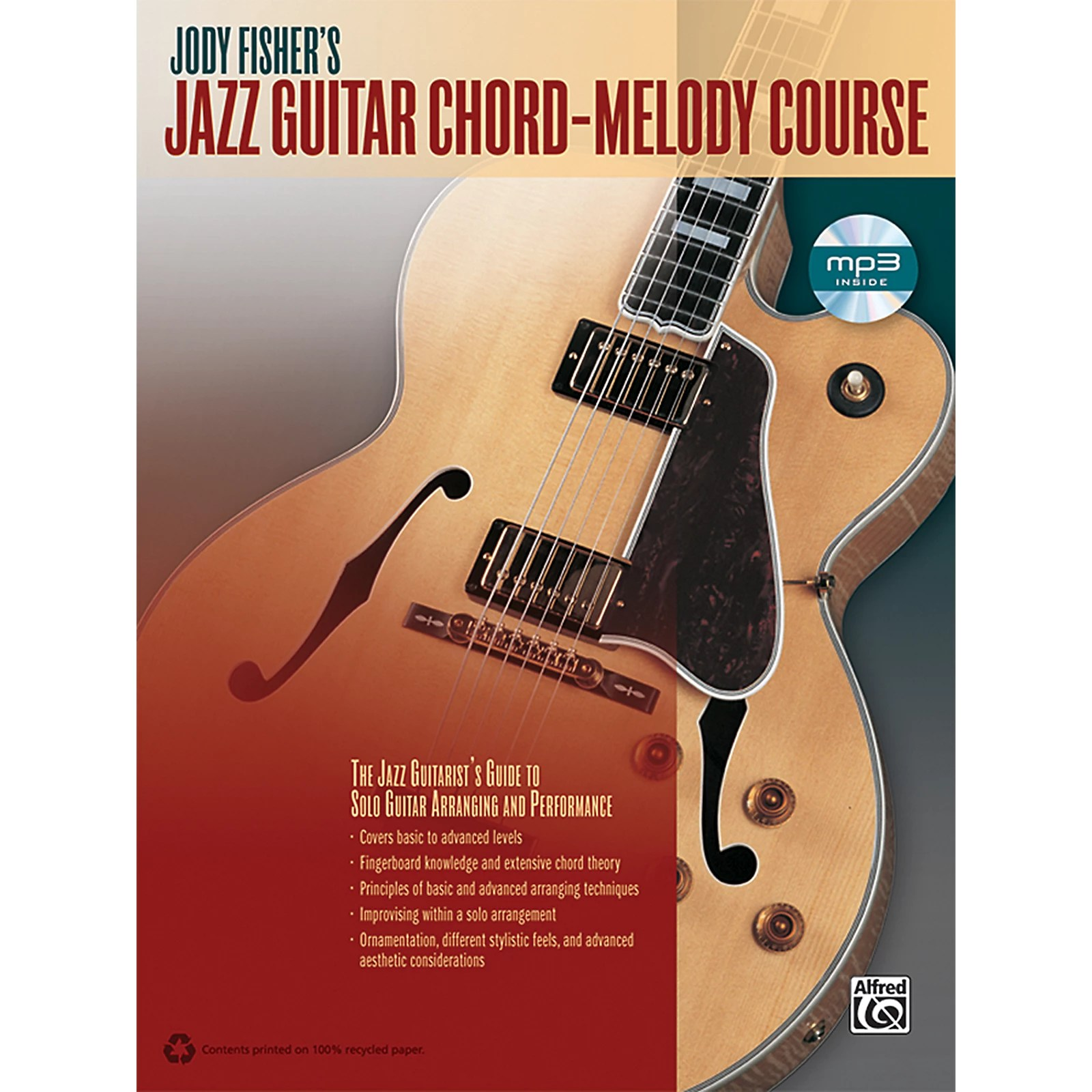 Alfred Jody Fisher S Jazz Guitar Chord Melody Course Book