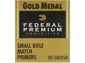 Federal Premium Gold Medal Small Rifle Match Primers #205M Box of 1000
