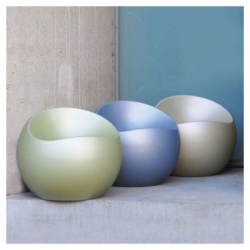 poufs ball chair xl boom coloris nacres mats