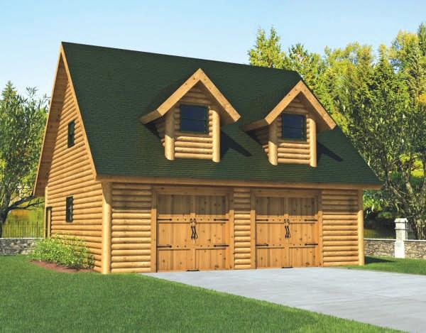Log Garage Plan By Foot Timber Homes