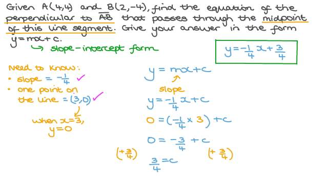 Finding the Equation of a Perpendicular Line