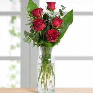 pet crvenih ruža