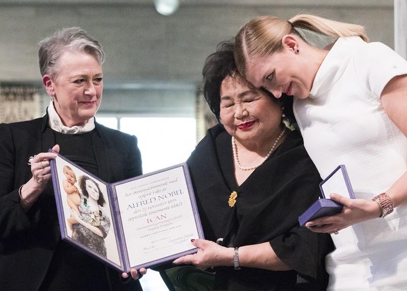 La ceremonia de entrega del Premio Nobel de la Paz a ICAN