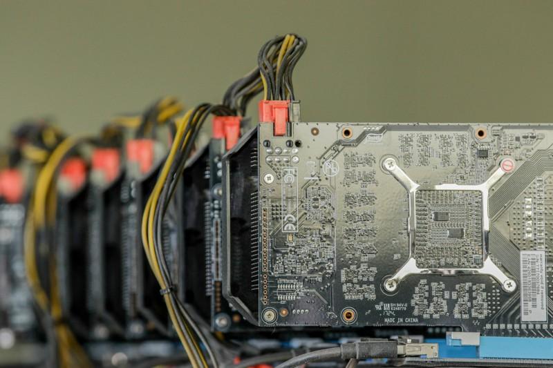 Blockchain mining computer array in South Korea