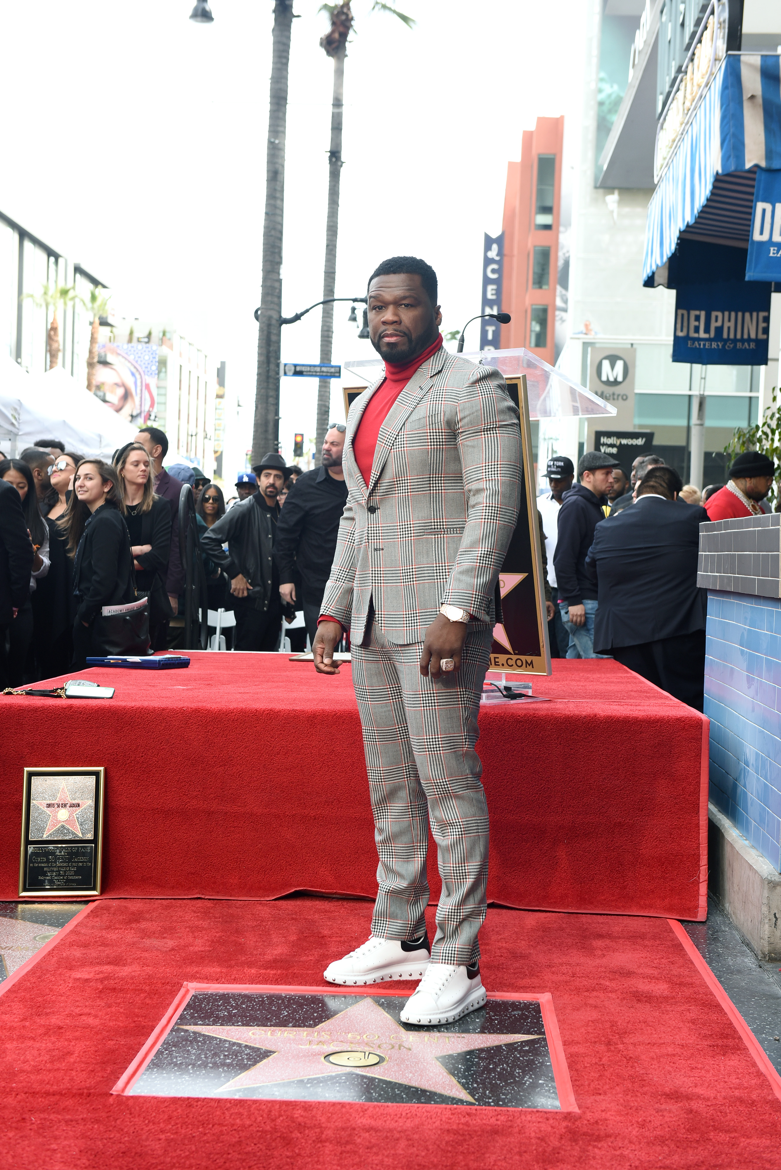 50 Cent receives a star on Hollywood Walk of Fame (Photo ...