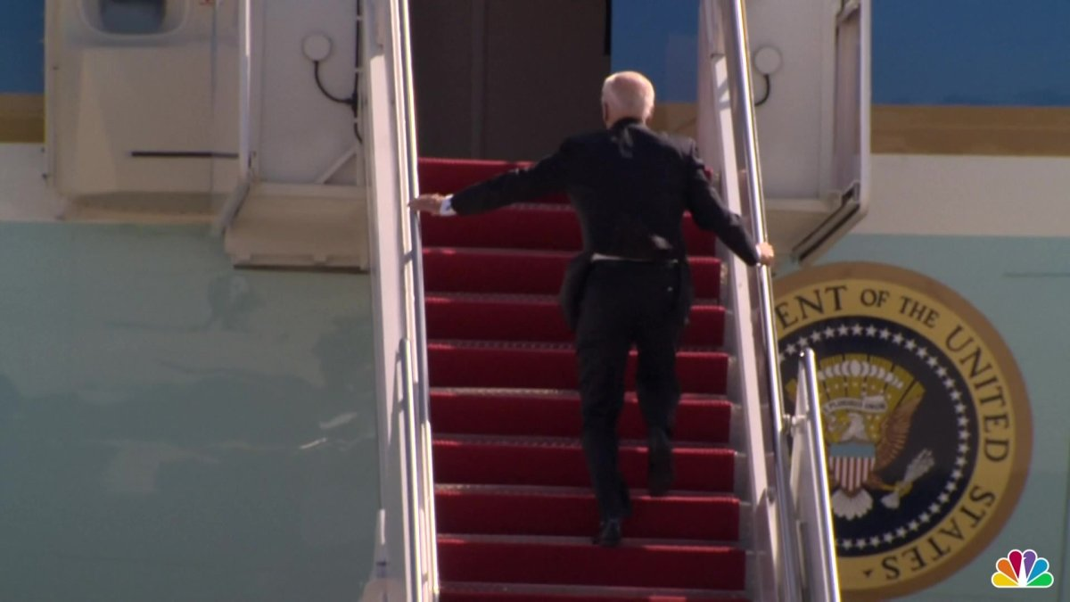 President Biden Trips While Boarding Air Force One, 'Doing Fine' 1