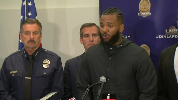 [LA] The Game, Snoop Dogg Speak at LAPD Headquarters