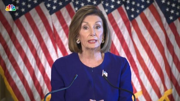 (NATL) Pelosi anuncia investigación de juicio político para comenzar en la Cámara