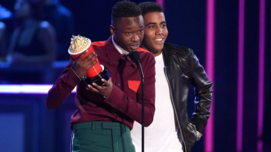 Moonlight  Stars Ashton Sanders and Jharrel Jerome Win Best Kiss at     Recipes With Heart and Soul