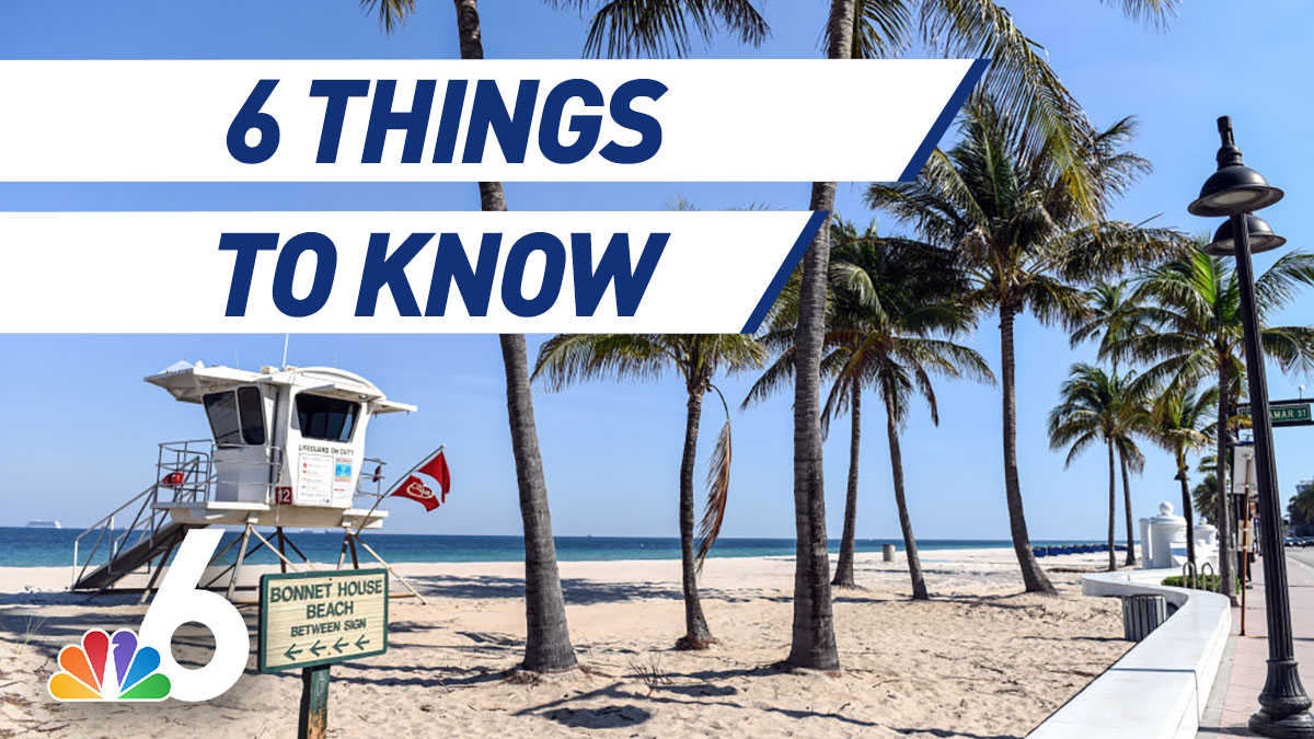 6 Things to Know – Broward Beaches Closing for July 4th, Confederate Descendants Sue North Florida City