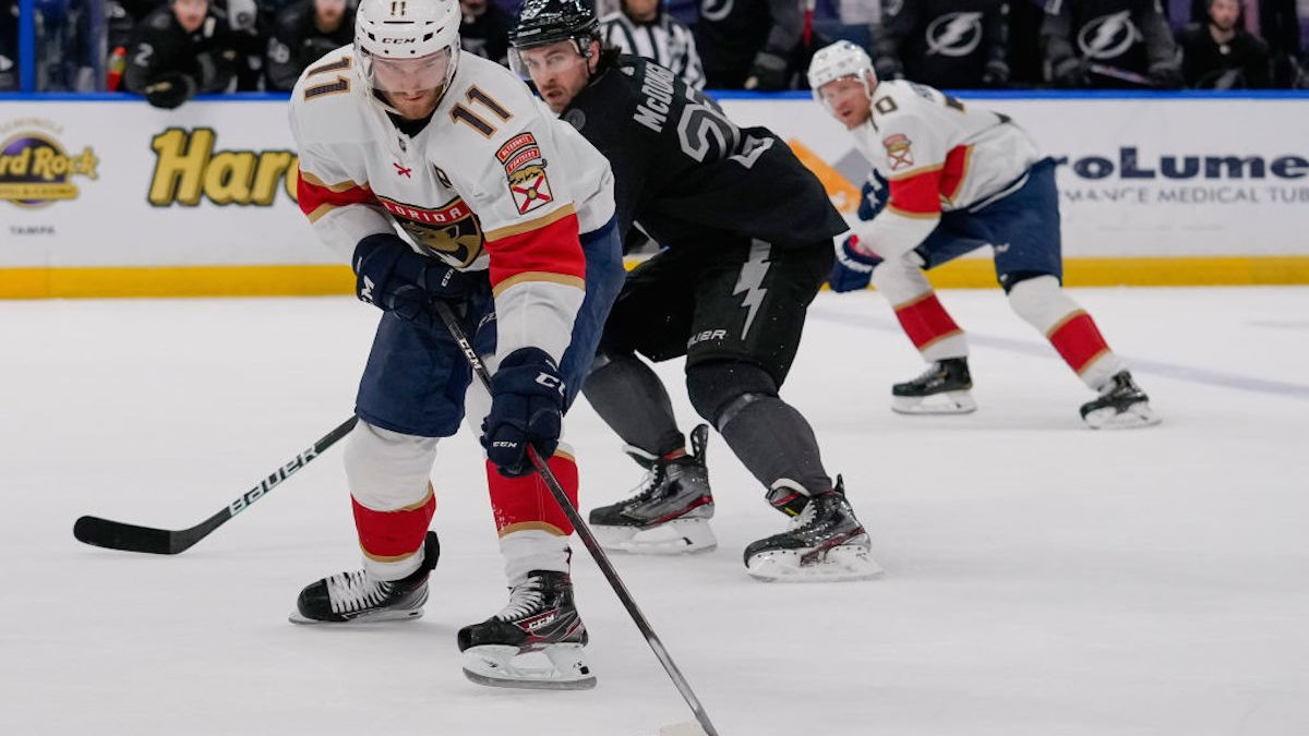 Florida Panthers Beat Tampa Bay Lightning to Move Into 2nd in Central