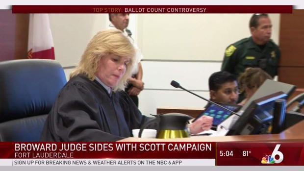 [MI]  Le juge se range du côté de la campagne de Scott dans l'affaire Broward