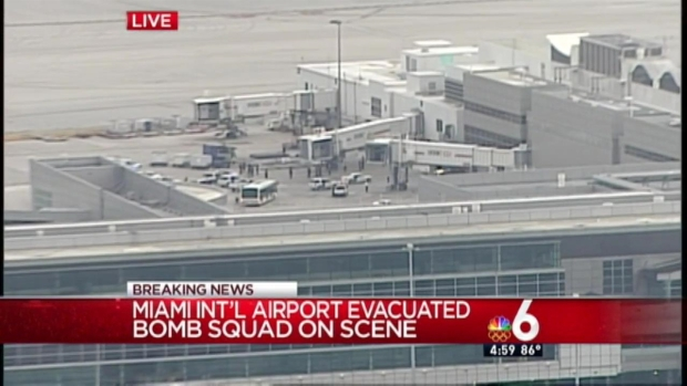 [MI] Terminal Evacuated at MIA, Bomb Squad Called: MDPD