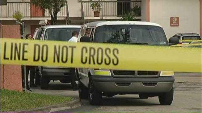 A home invasion ended with one of the suspects being shot and killed late Monday night, Miami-Dade Police said. Neighbor David Durity and Jerome Irving, whose wife heard gunfire, spoke about what happened.
