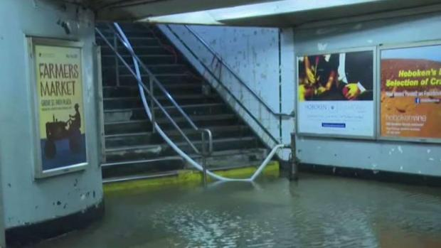 [NY] 3rd Water Main Break in Hoboken in Hours Floods PATH Station