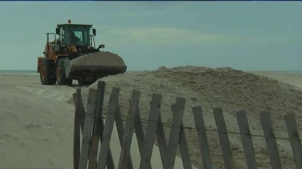 Long Island Beaches Prepped for Remnants of Michael