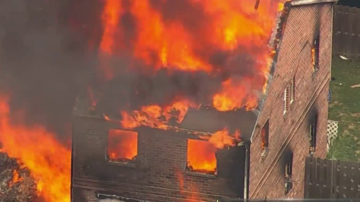 Explosions Seen as Homes Go Up in Flames in Montgomery County