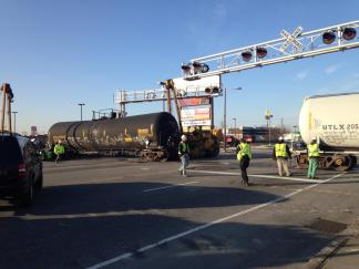 Train Derails in Port Richmond