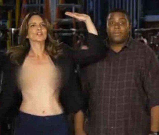 Tina Fey Kinda Sorta Suffers Double Nip Slip In Saturday Night Live Promo Watch