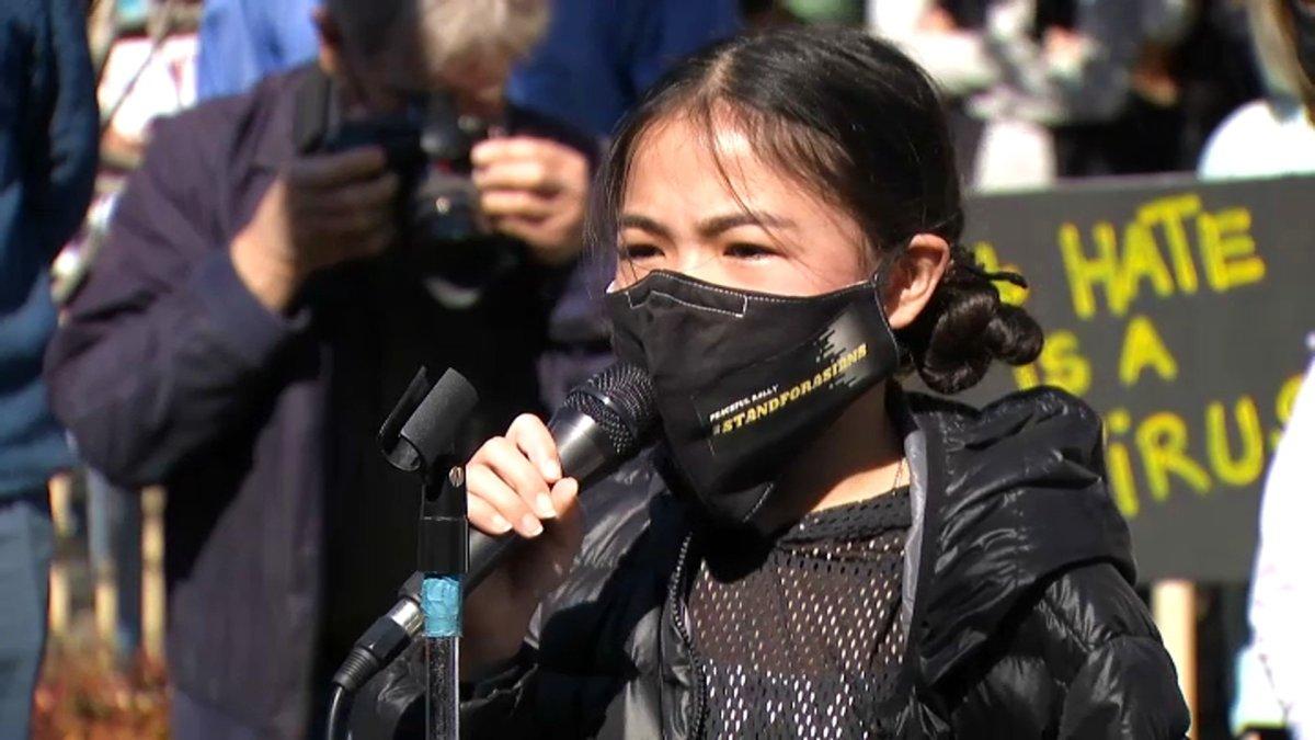 www.nbcwashington.com: Calif. Middle Schooler Organizes Rally to Denounce Hate Crimes Against Asian Community