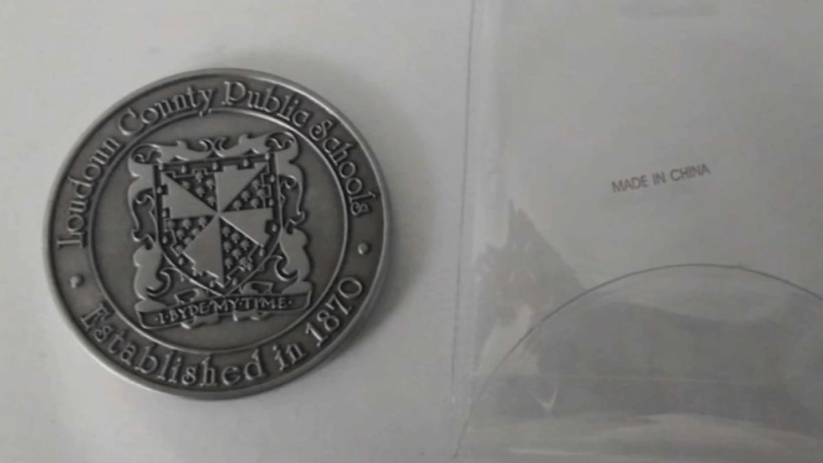 Loudoun County Teachers Thanked With 'Challenge Coins' Instead of Cash After Pandemic