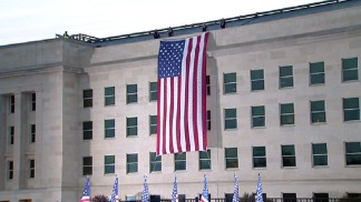 9/11 Flag Unfurled at Pentagon