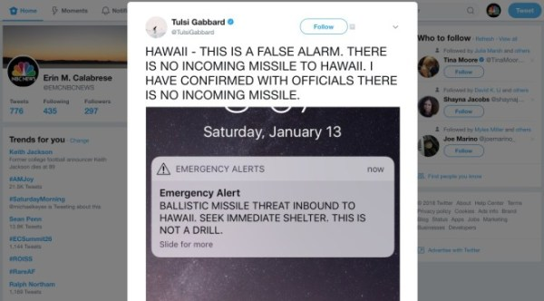 Hawaii Says No Missile Threat After Emergency Alert ...
