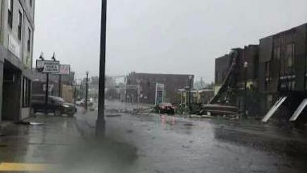 [NECN] Woman Describes Possible Tornado in Webster
