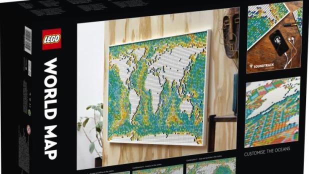 Die Lego-Weltkarte ist ab dem 1. Juni 2021 erhältlich. (Foto)