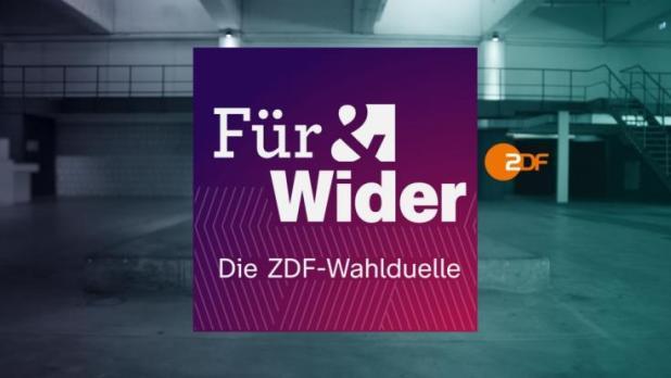 """""""Für  Wider - Die ZDF-Wahlduelle"""" läuft im Sommer 2021 im Vorfeld der Bundestagswahl. (Foto)"""