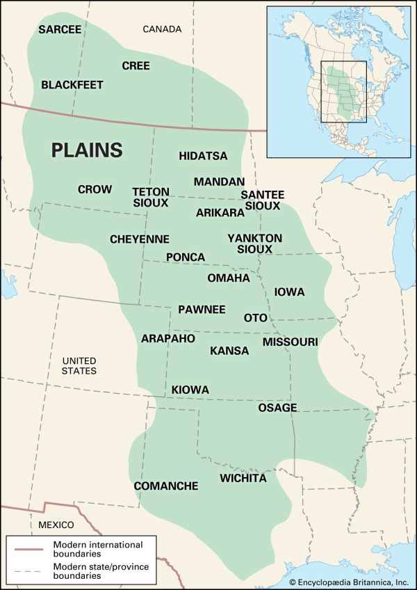 North america map great plains