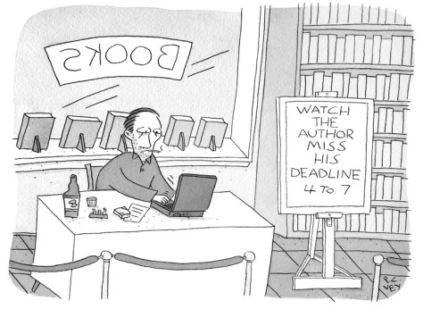 Image result for author deadline cartoons