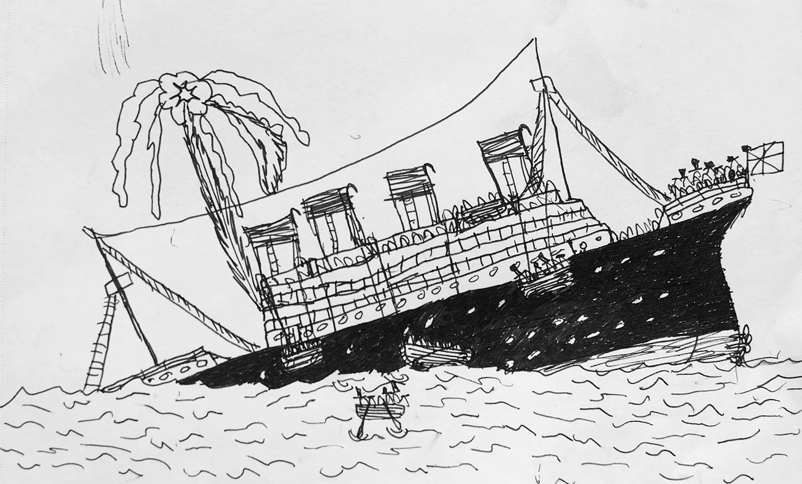 A Young Artist Confronts The Sinking Of The Titanic