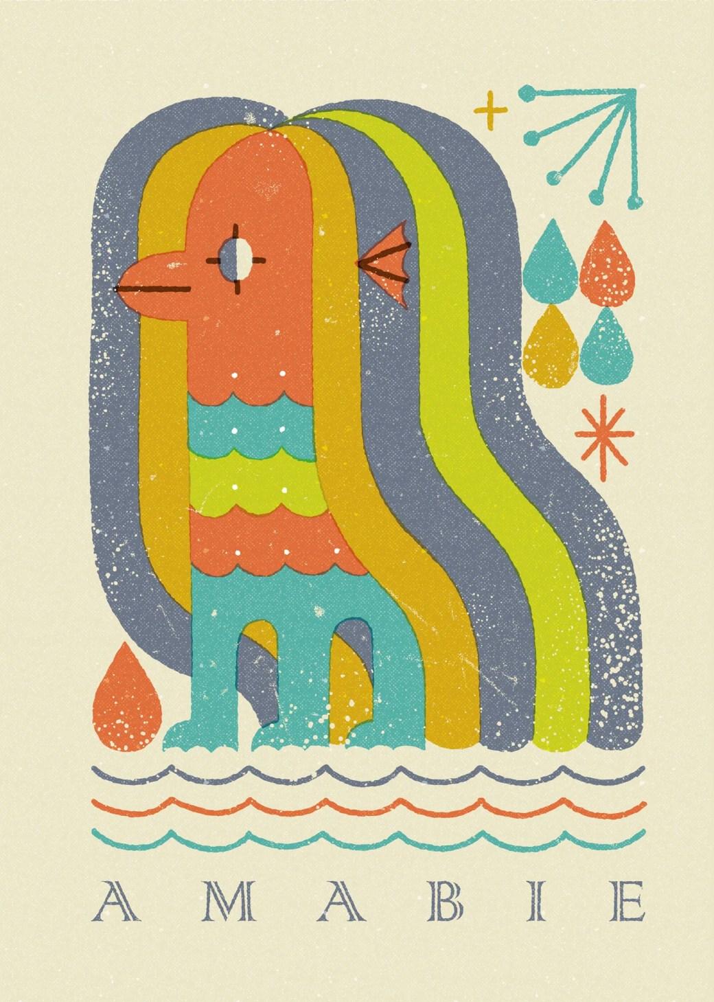 Ilustración de amabie