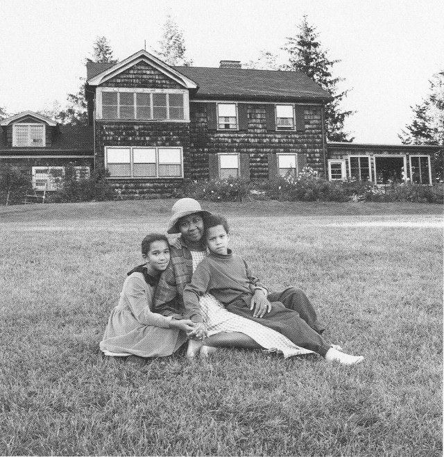 Jamaica Kincaid and her children