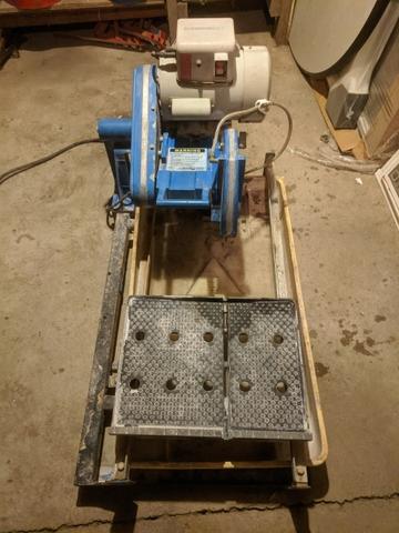 sold superiorbilt industrial tile saw