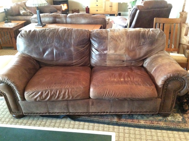 sold lane leather couch oversized chair