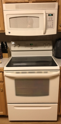 sold kenmore 30 range oven and ge built in microwave