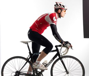 cykling stående i backe
