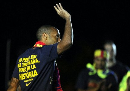 HENRY GOODBYE TO BARCA