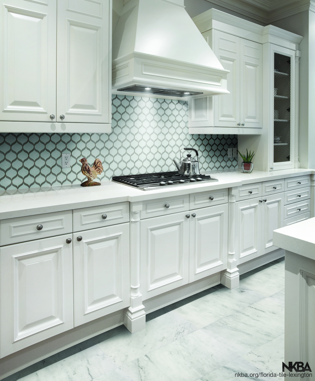 pom pure white arabesque mosaic kitchen