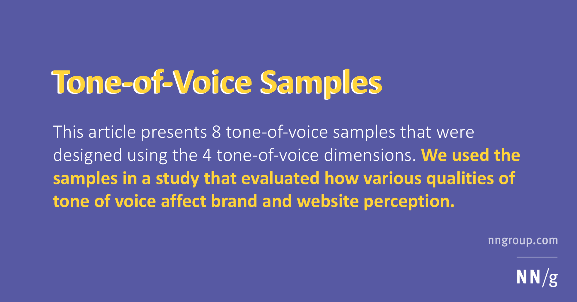 Tone Of Voice Samples