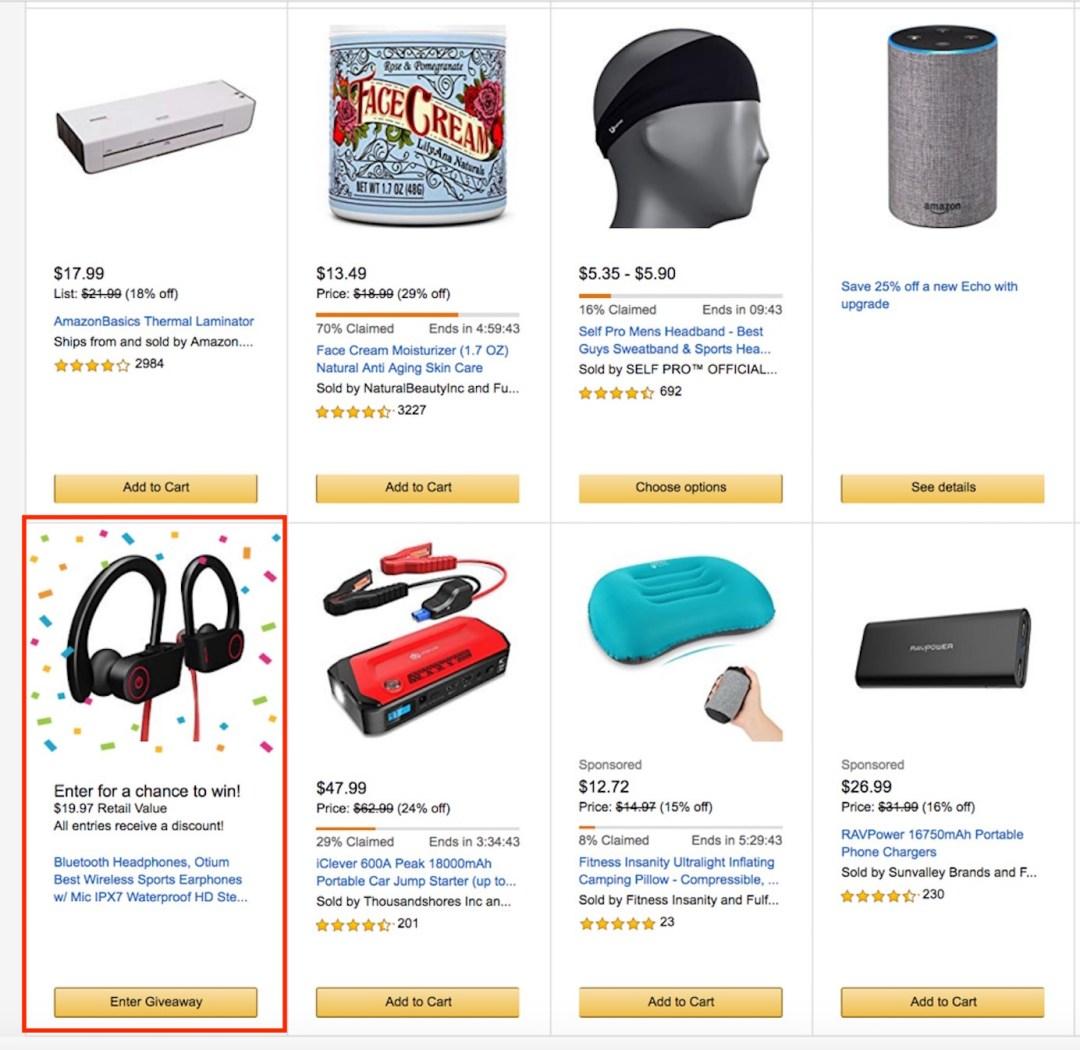 Amazon Listing Page