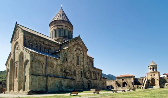 The medieval Svetitskhoveli Cathedral in Mtskheta, Georgia